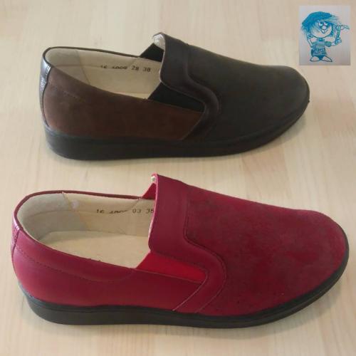 Valódi bőrből készült női- és férfi cipő kedvezményesen