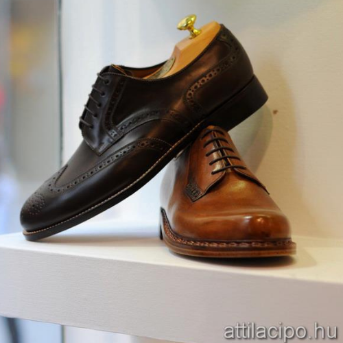 Kézzel varrott férfi cipők egyedi megrendelésre és konfekció méretben kedvezményesen