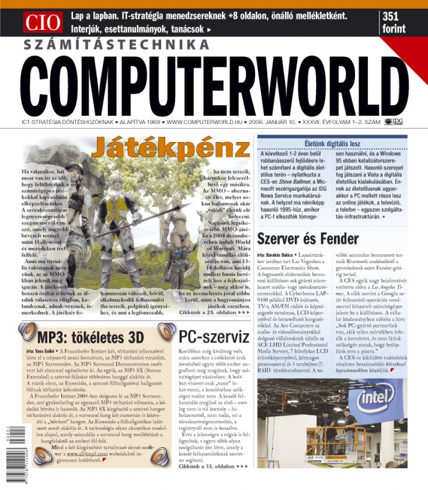 Computerworld Számítástechnika, féléves